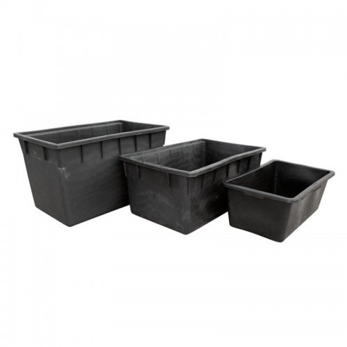 Depósito rectangular negro